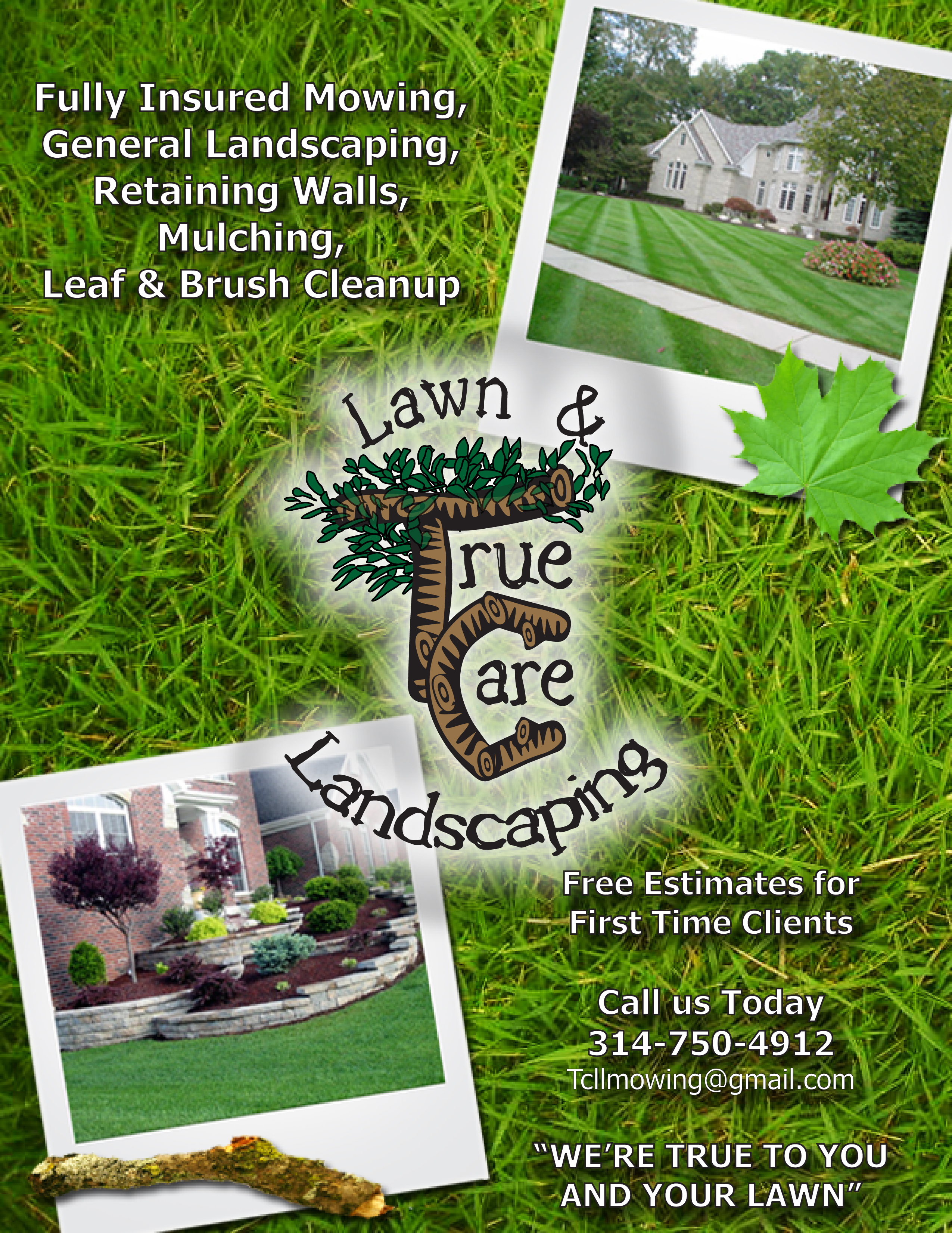 portfolio dave woods true care lawn landscape flyer